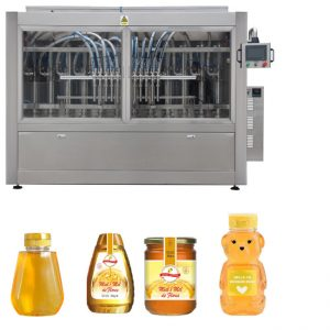 Awtomatikong Servo Piston Type Sauce Honey Jam High Viscosity Liquid Filling Capping Labeling Machine Line